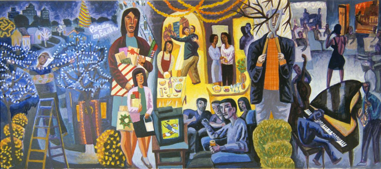 Murals of james b janknegt for 4 seasons mural